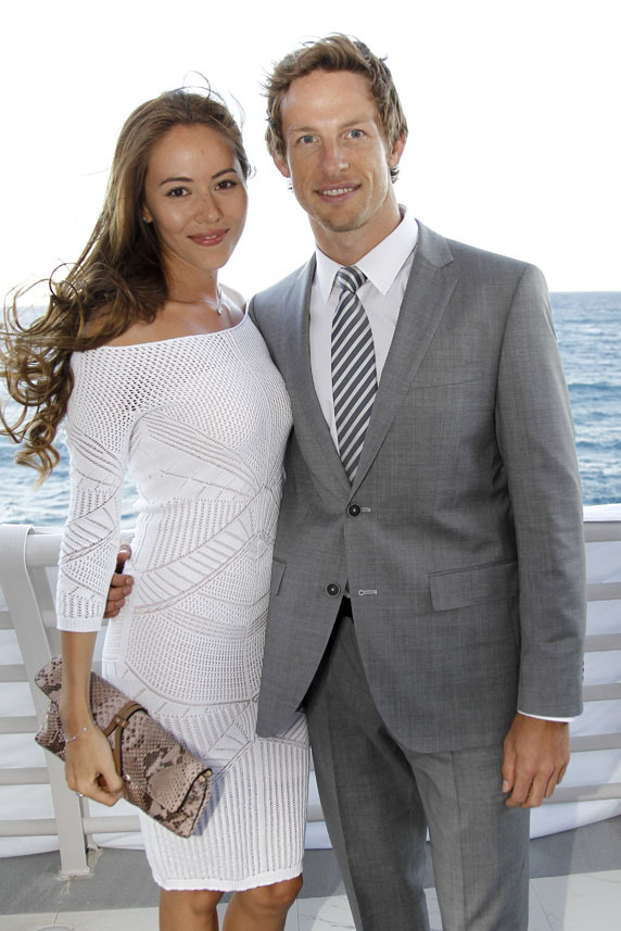 Jenson Button i Jessica Michibata