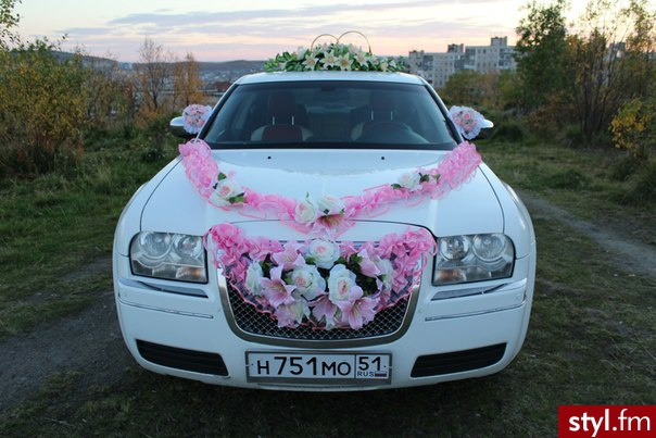 Wspaniały Organizacja wesela: dekorowanie samochodu do ślubu LS61