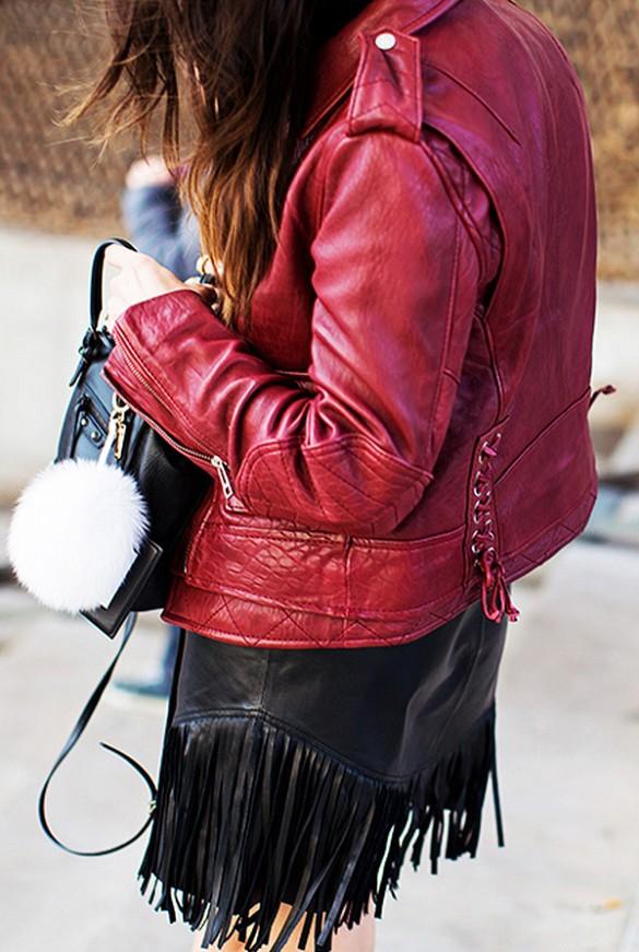 Kitten leather jacket