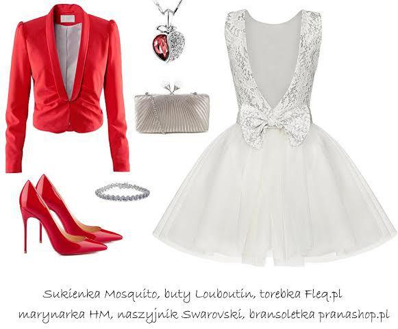 Sukienka z koła mocno podkreślająca talię, z rozkloszowanym dołem, koronkową górą, odkrytymi plecami i dużą kokardą idealnie sprawdzi się podczas balu lub studniówki. Dzięki niej będziesz wyglądała wyjątkowo a Twoja stylizacje nie zostanie pominięta. Wybierając taki krój postaw na biel lub odcienie srebra w połączeniu z klasycznymi dodatkami lub mocnym np. czerwonym akcentem.