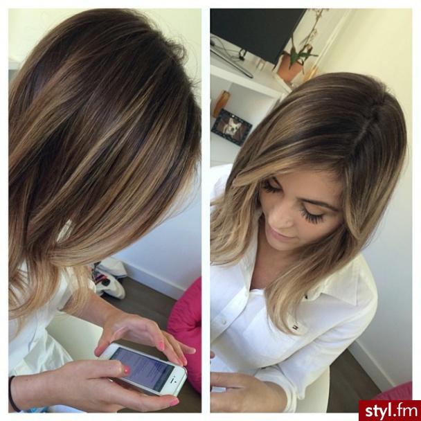Blond Refleksy Na Ciemnych Włosach Najładniejsze Fryzury