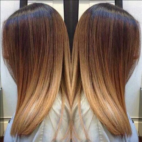 Karmelowy Kolor Włos 243 W W Najmodniejszym Wydaniu Ombre