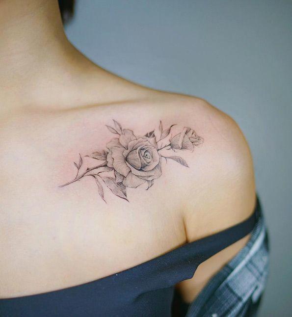 Tatuaż Na Ramieniu Dekolcie I Obojczyku Te Wzory