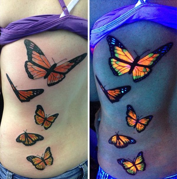 Tatuaże Uv święcące W Ciemności Trend Dla Bywalców Klubów