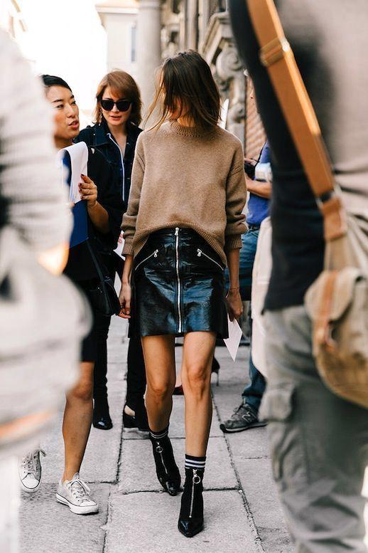 ff354764 Moda na jesień 2018: Skórzana spódnica wraca do łask! Nie tylko ...