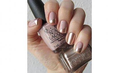 Paznokcie nude ze złotem - idealny pomysł na stylowy manicure