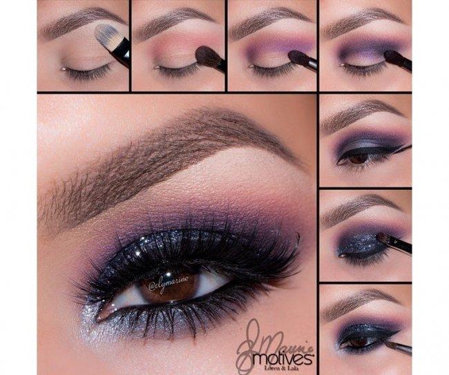 Perfekcyjny Makijaż Oczu Krok Po Kroku Smoky Z Kreską Z Brokatem
