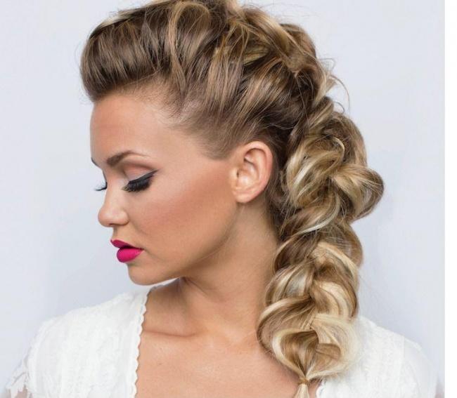 Fryzury na sylwestra 2016: irokez warkocze koki Wielki - Down Hairstyles
