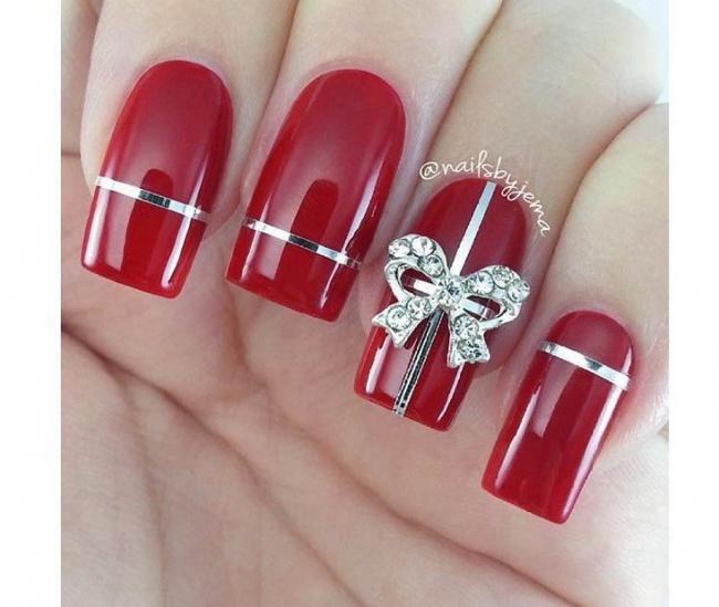 Czerwony Manicure Na święta Te Wzorki Was Urzekną