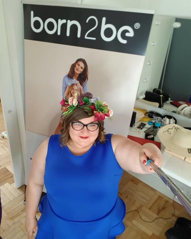 Dominika Gwit podczas warsztatów piękno w rozmiarze xxl