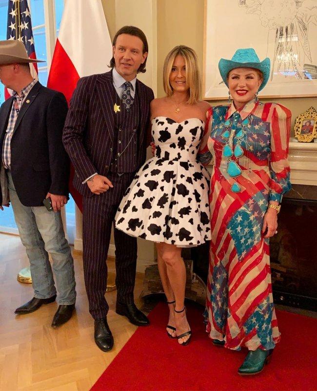 Małgorzata Rozenek miała na sobie sukienkę w krowie łaty!